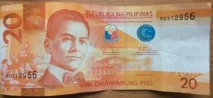 moneda filipina 20 pesos