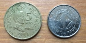 moneda filipina 5 pesos